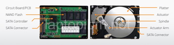 So sánh ổ HDD và ổ SSD